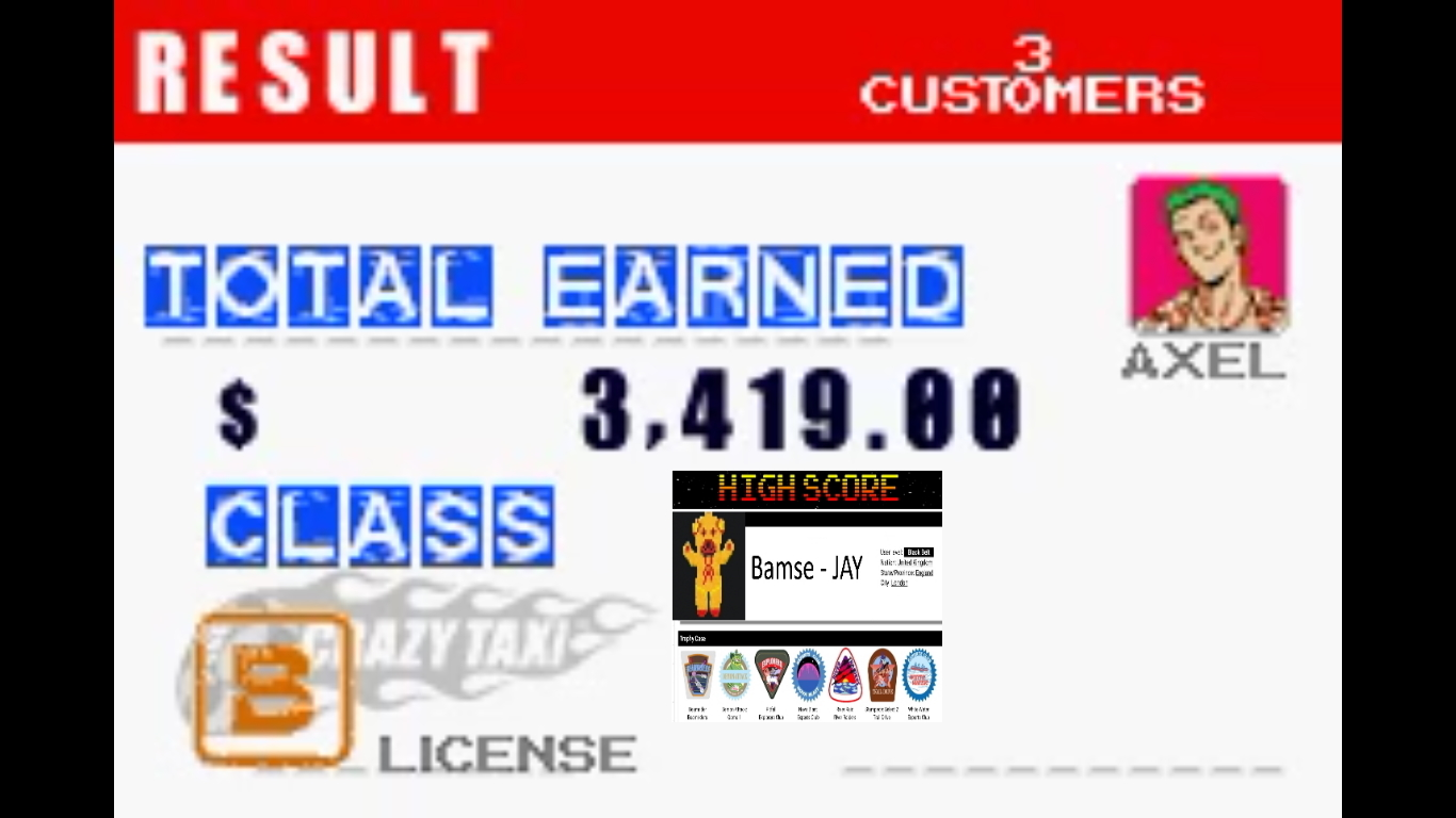 Bamse: Crazy Taxi: Catch A Ride: City 1 [5 Minutes] (GBA Emulated) 3,419 points on 2019-10-31 18:44:38