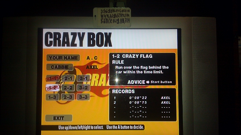 ichigokurosaki1991: Crazy Taxi: Crazy Box 1-2: Crazy Flag (Dreamcast) 0:00:08.22 points on 2016-05-18 23:36:34