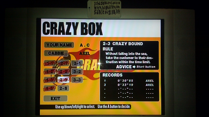 ichigokurosaki1991: Crazy Taxi: Crazy Box 2-3: Crazy Bound (Dreamcast) 0:00:30.85 points on 2016-05-18 23:43:54