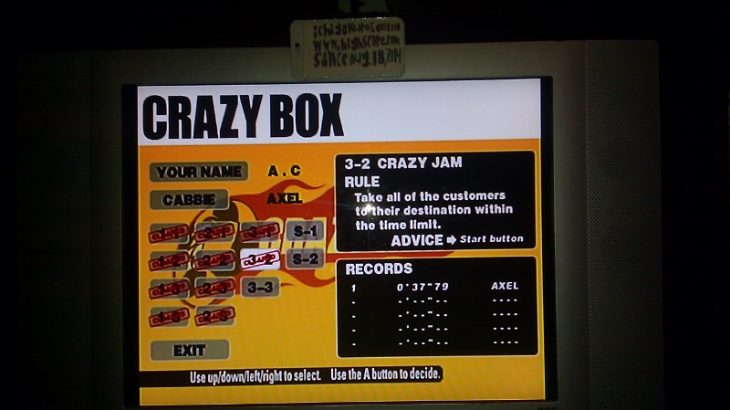 ichigokurosaki1991: Crazy Taxi: Crazy Box 3-2: Crazy Jam (Dreamcast) 0:00:37.79 points on 2016-05-18 23:50:42