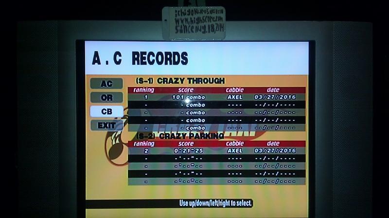 Crazy Taxi: Crazy Box: S-1: Crazy Through 101 points