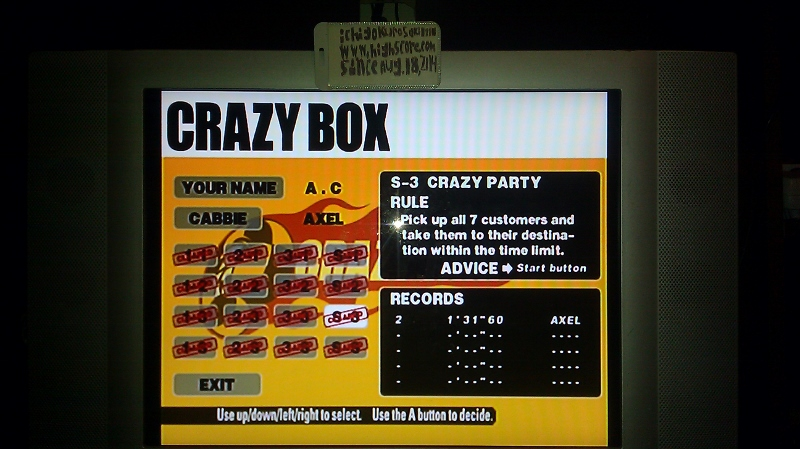 ichigokurosaki1991: Crazy Taxi: Crazy Box: S-3: Crazy Party (Dreamcast) 0:01:31.6 points on 2016-05-18 23:58:06