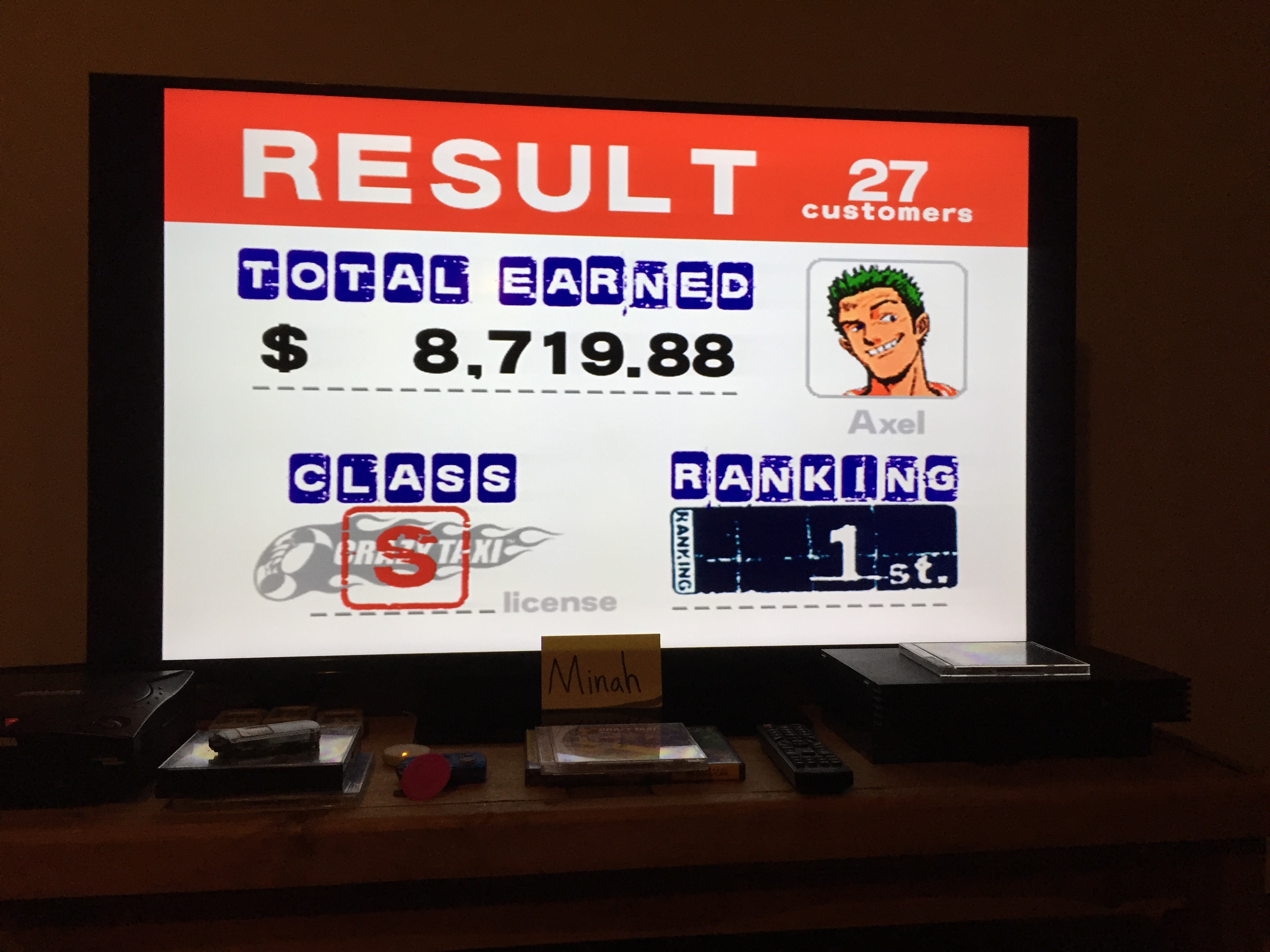 Crazy Taxi 8,719 points