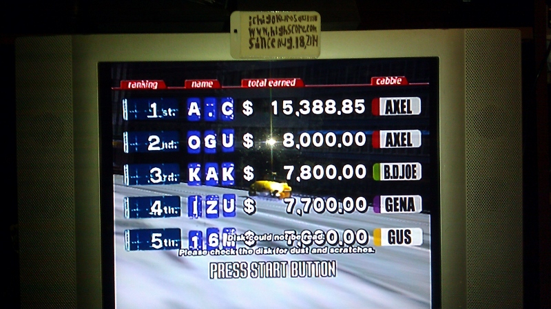 Crazy Taxi 15,388 points