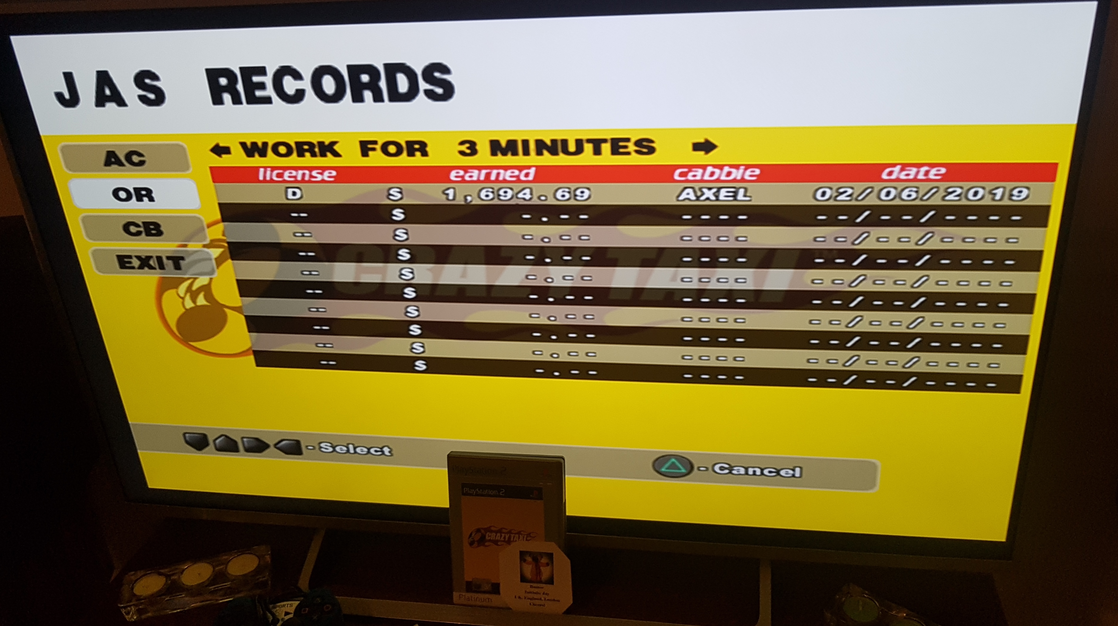 Crazy Taxi [Original/3 Minutes] 1,694 points