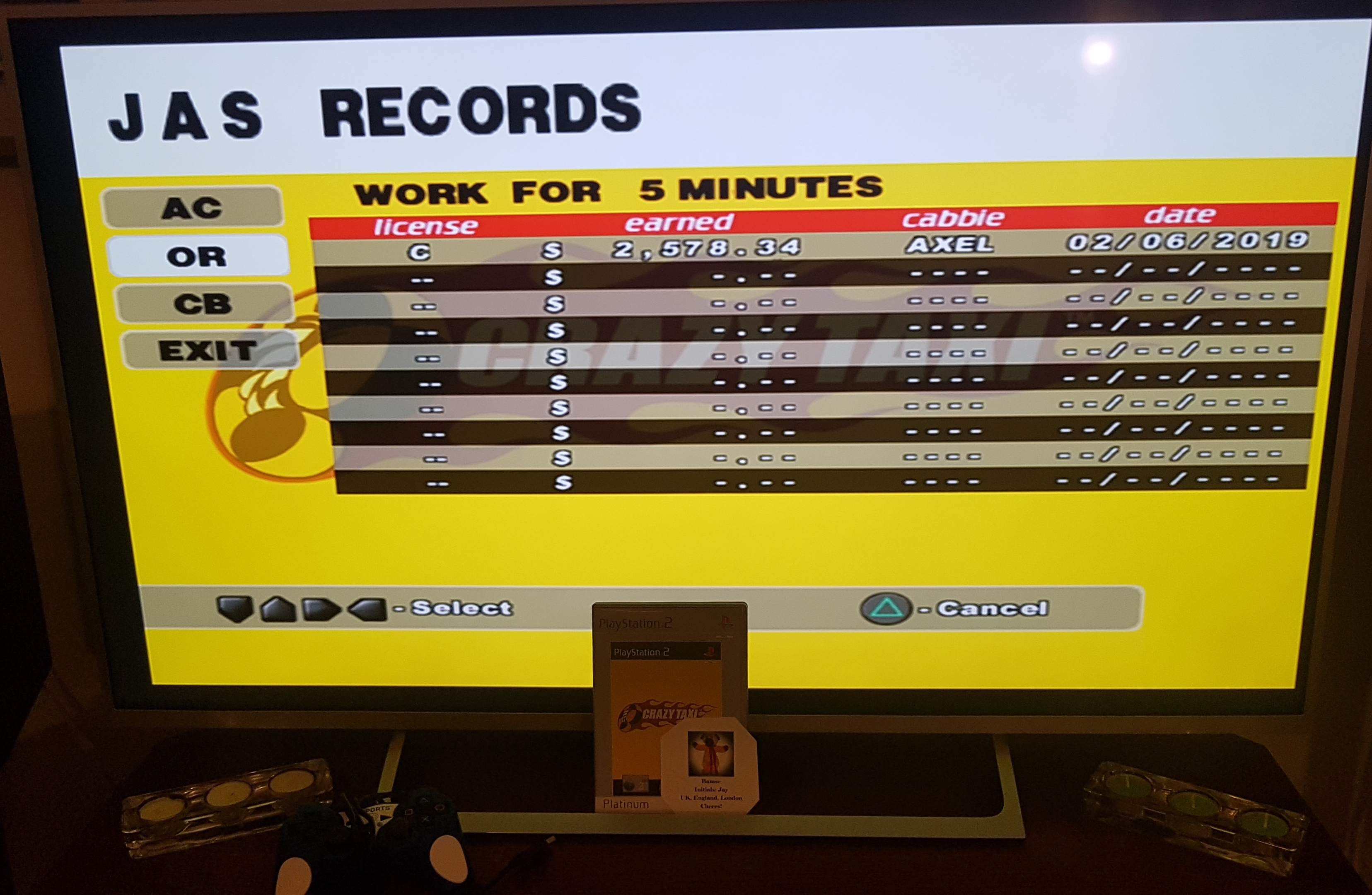 Bamse: Crazy Taxi [Original/5 Minutes] (Playstation 2) 2,578 points on 2019-02-05 17:17:21