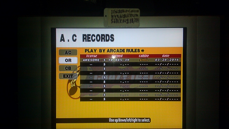 Crazy Taxi: Original: Arcade Rules 10,885 points