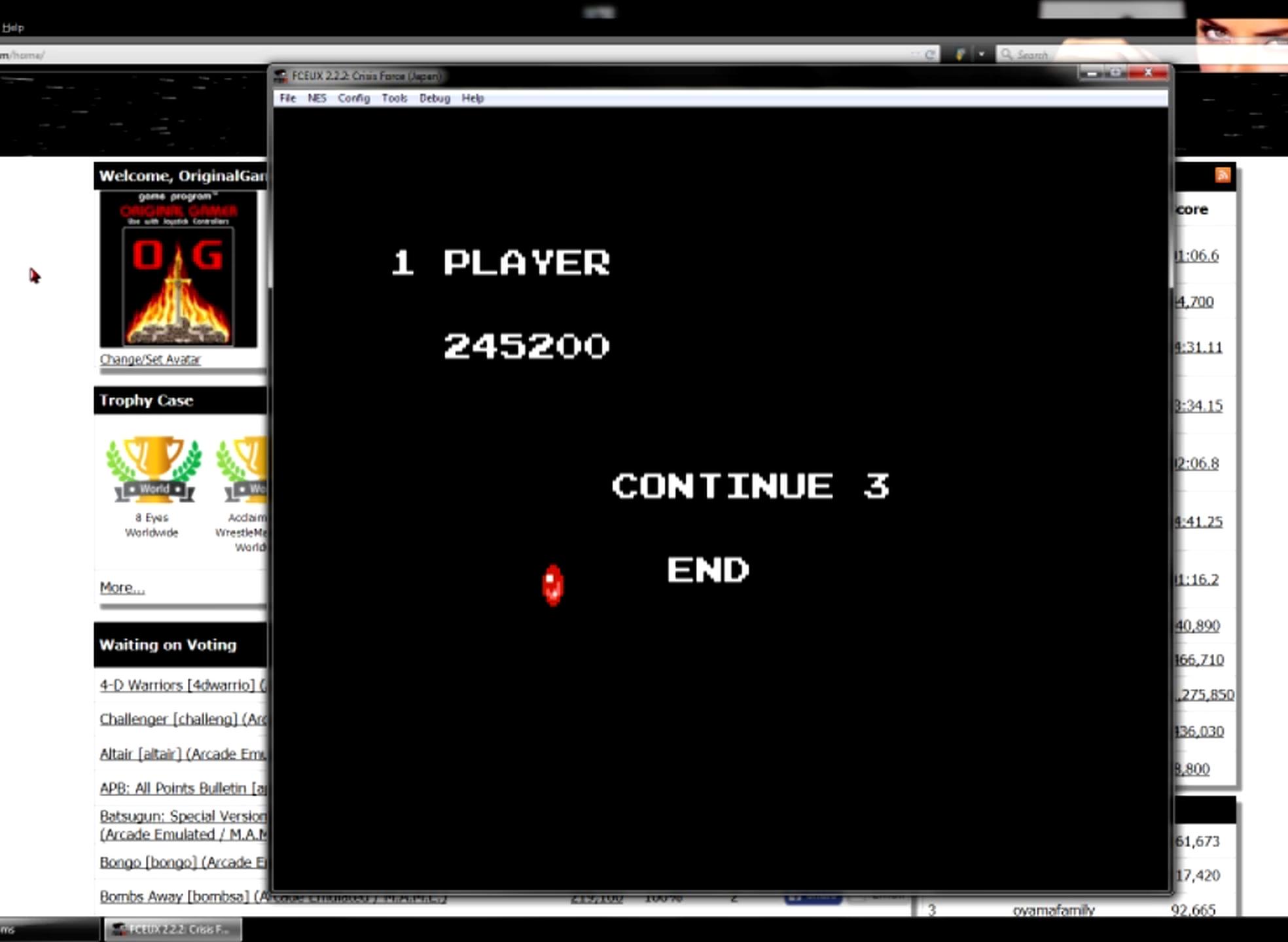 OriginalGamer: Crisis Force [Japanese] (NES/Famicom Emulated) 245,200 points on 2015-06-20 18:39:46