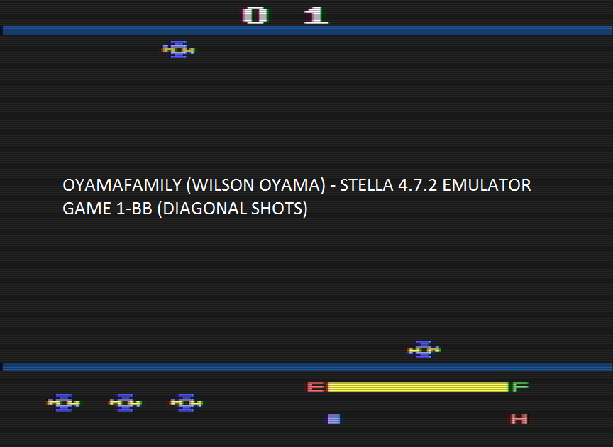 oyamafamily: Cross Force (Atari 2600 Emulated Novice/B Mode) 1,200 points on 2016-08-14 15:11:56