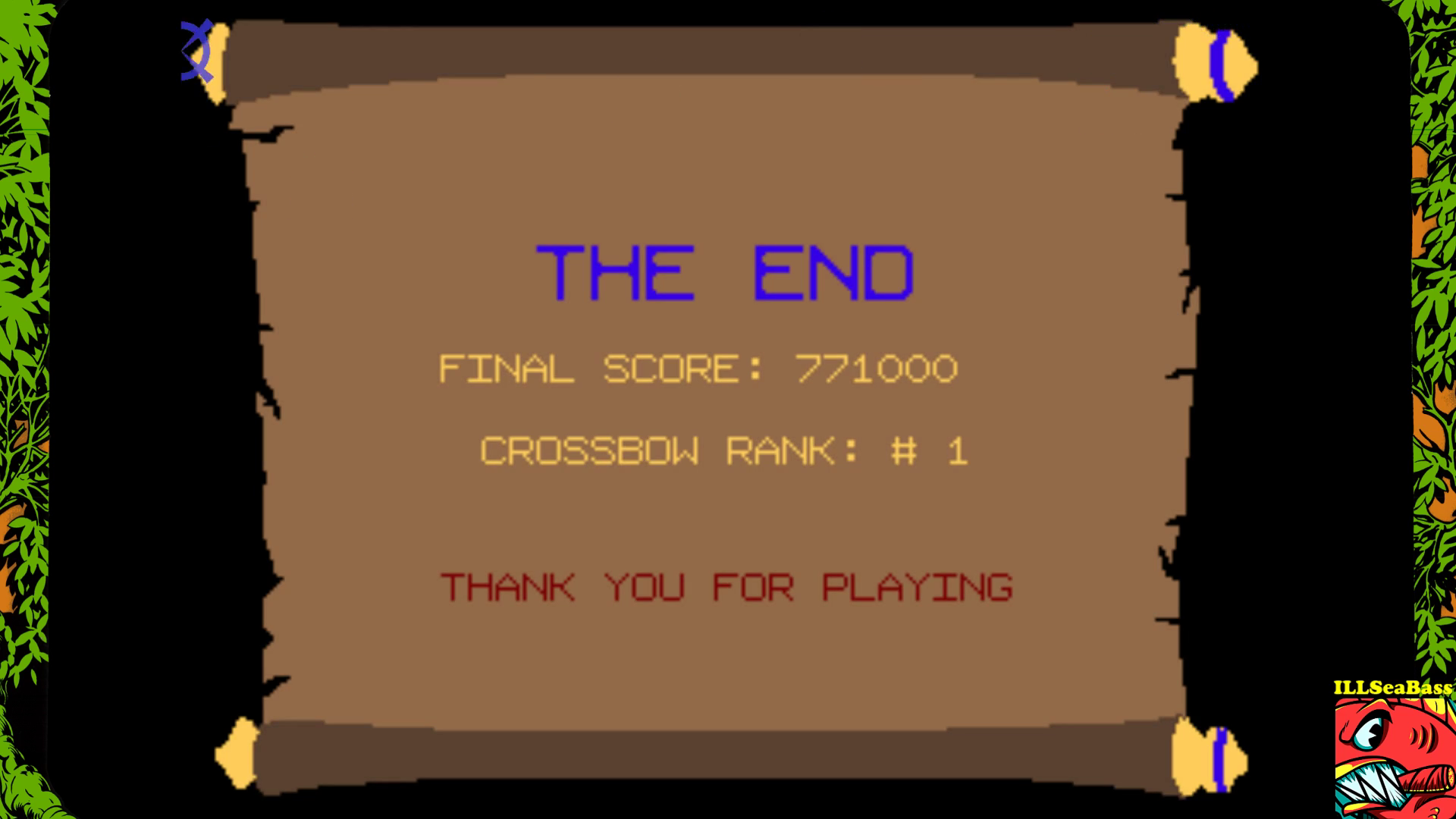 ILLSeaBass: Crossbow [crossbow] (Arcade Emulated / M.A.M.E.) 771,000 points on 2017-09-14 19:29:32
