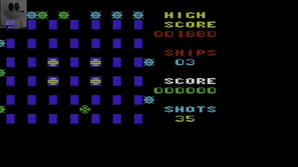 GTibel: Crossfire (Commodore VIC-20 Emulated) 1,880 points on 2016-06-19 10:40:36