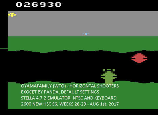 oyamafamily: Cruise Missile / Exocet (Atari 2600 Emulated Novice/B Mode) 26,930 points on 2017-08-15 19:34:12