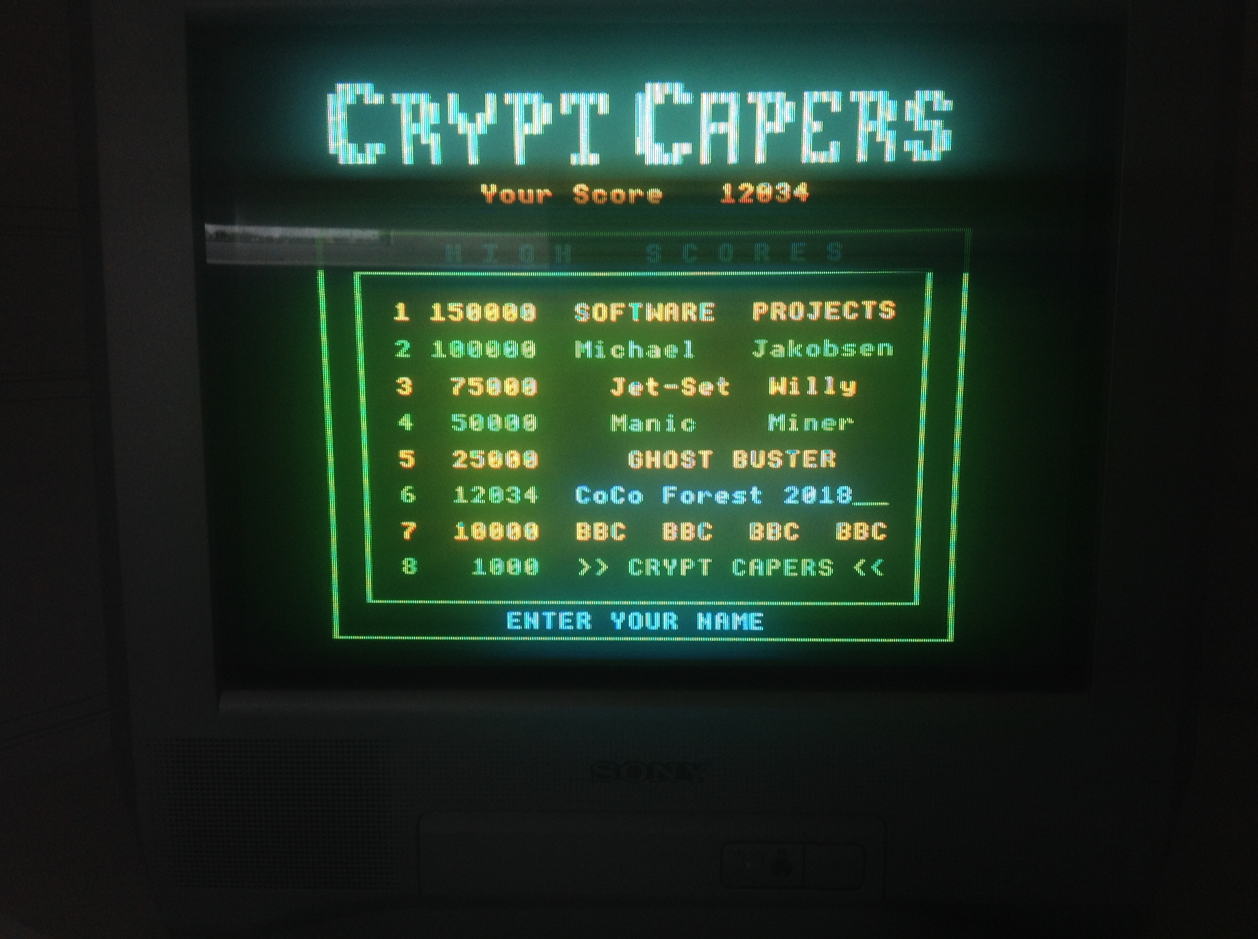 CoCoForest: Crypt Capers (BBC Micro) 12,034 points on 2018-07-03 05:02:21