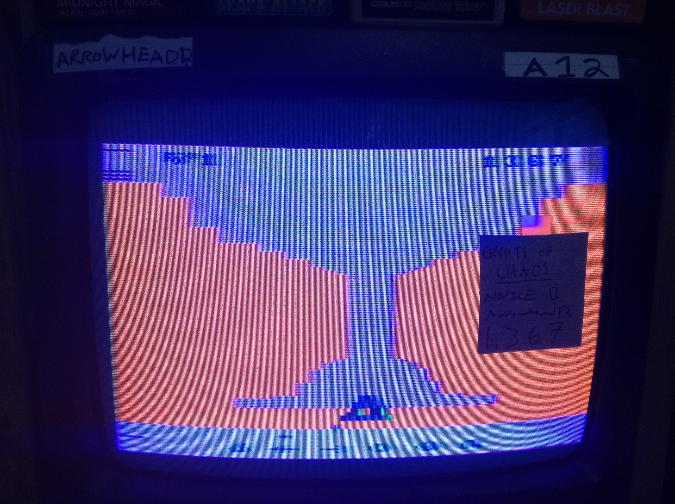 Arrowhead12: Crypts of Chaos (Atari 2600 Novice/B) 1,367 points on 2019-05-07 23:57:33