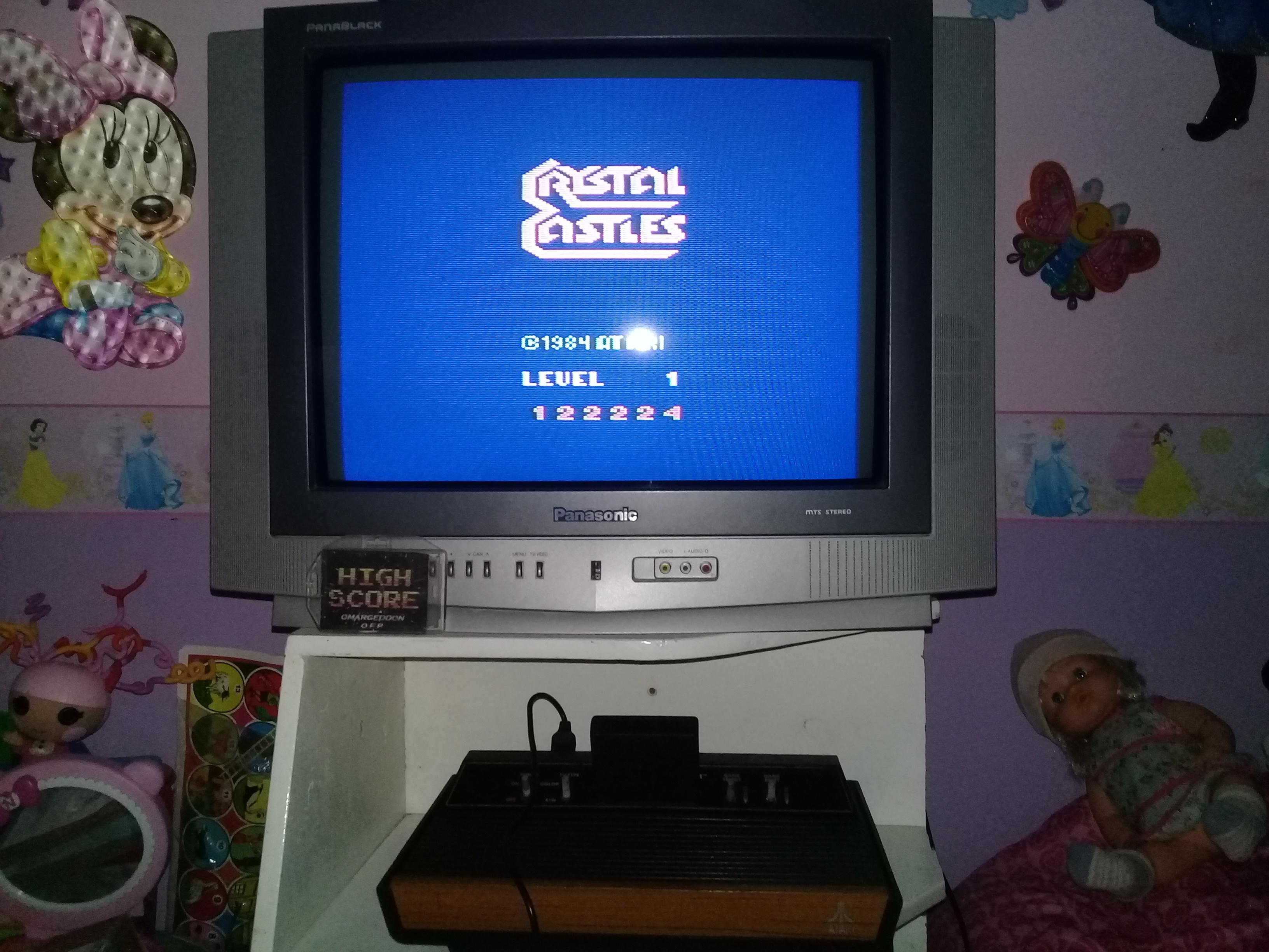 omargeddon: Crystal Castles (Atari 2600 Expert/A) 122,224 points on 2019-06-23 18:23:47