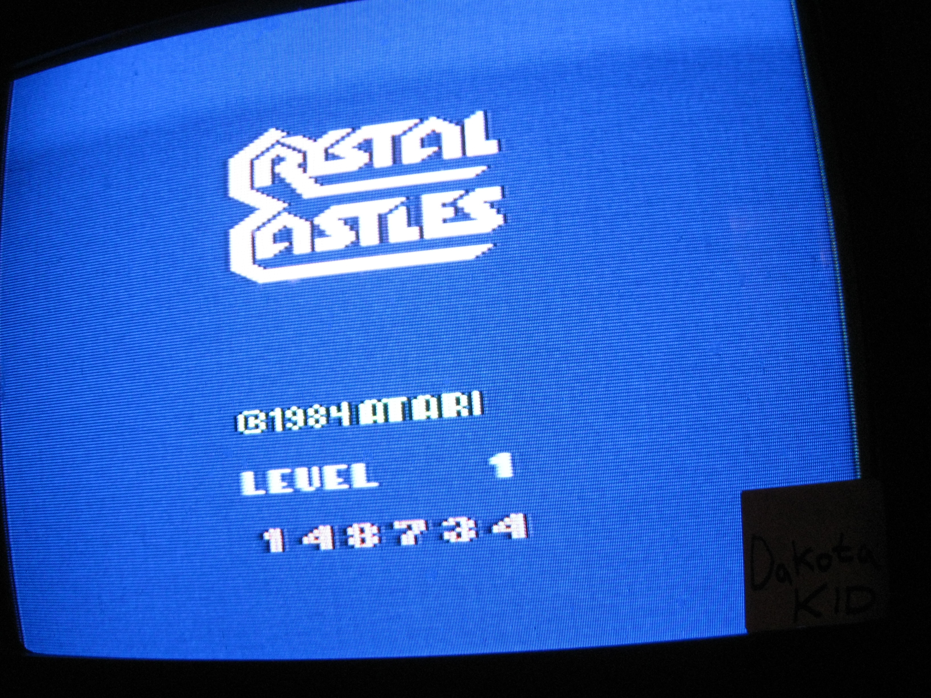 Crystal Castles 148,734 points