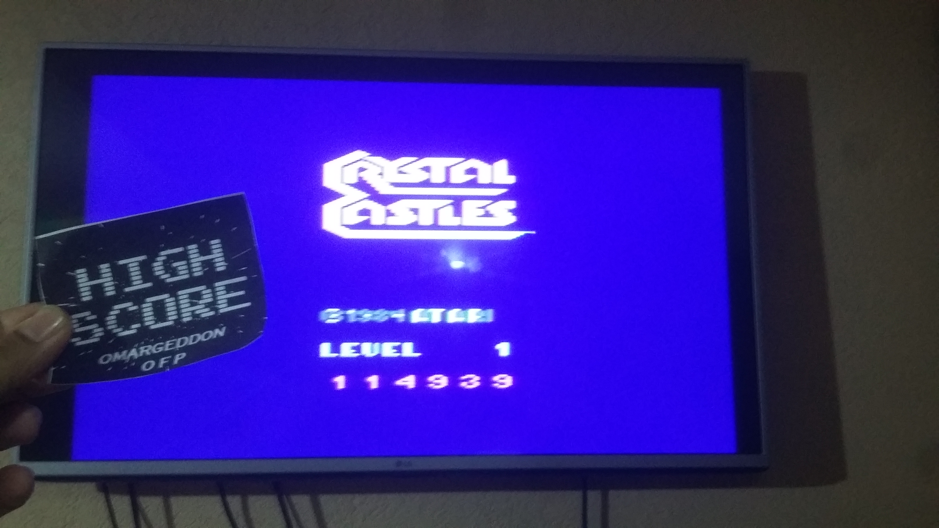 omargeddon: Crystal Castles (Atari 2600 Novice/B) 114,939 points on 2016-11-11 16:37:13