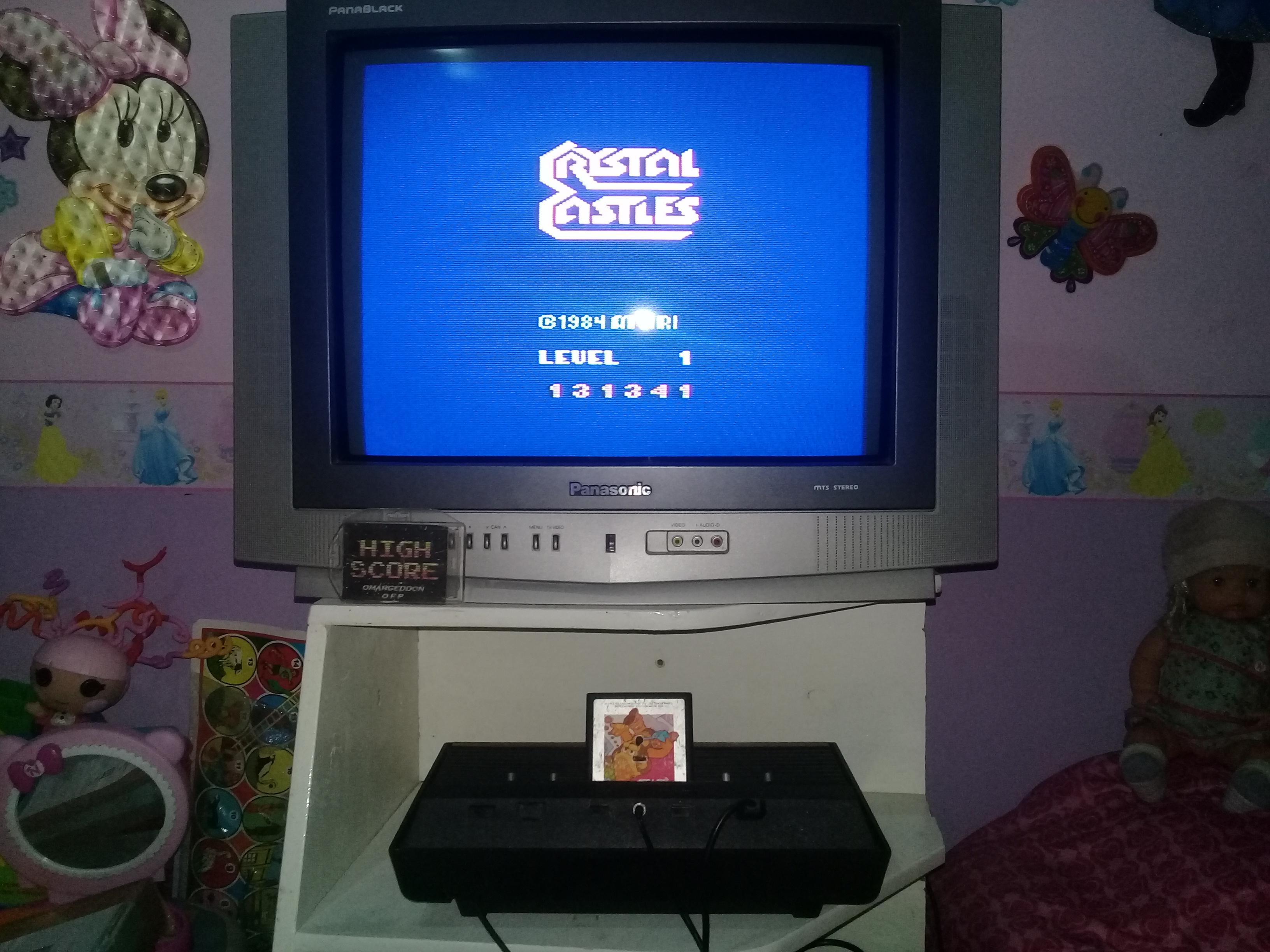 omargeddon: Crystal Castles (Atari 2600 Novice/B) 131,341 points on 2019-06-28 19:31:27