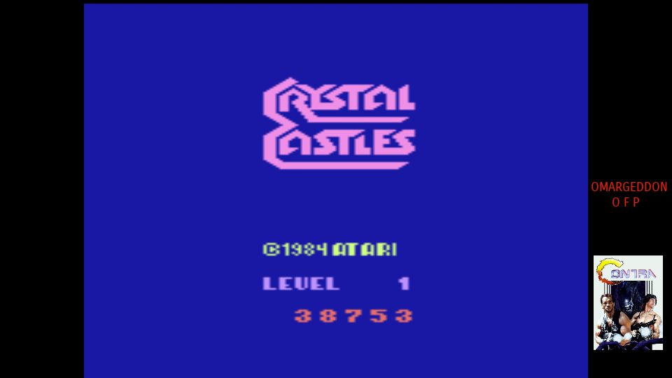 omargeddon: Crystal Castles (Atari 2600 Emulated Expert/A Mode) 38,753 points on 2017-08-05 10:28:41