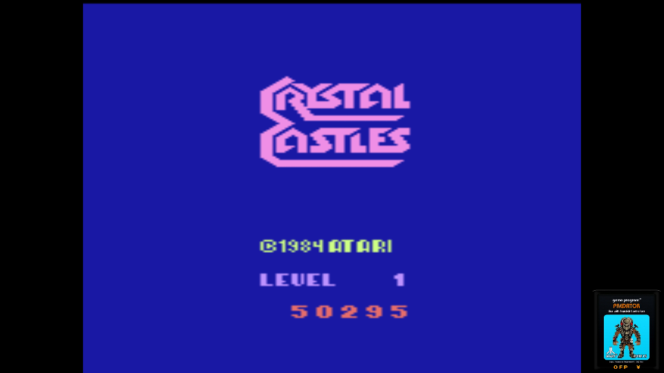 omargeddon: Crystal Castles (Atari 2600 Emulated Novice/B Mode) 50,295 points on 2017-06-26 00:15:09