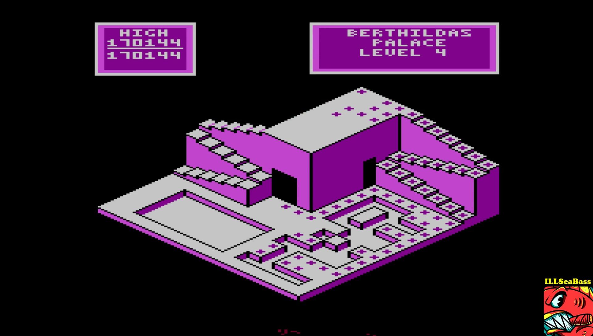 ILLSeaBass: Crystal Castles (Atari 400/800/XL/XE Emulated) 170,144 points on 2017-02-05 20:55:47