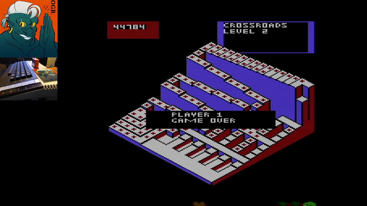 AwesomeOgre: Crystal Castles (Atari 400/800/XL/XE) 44,784 points on 2020-03-16 06:13:23