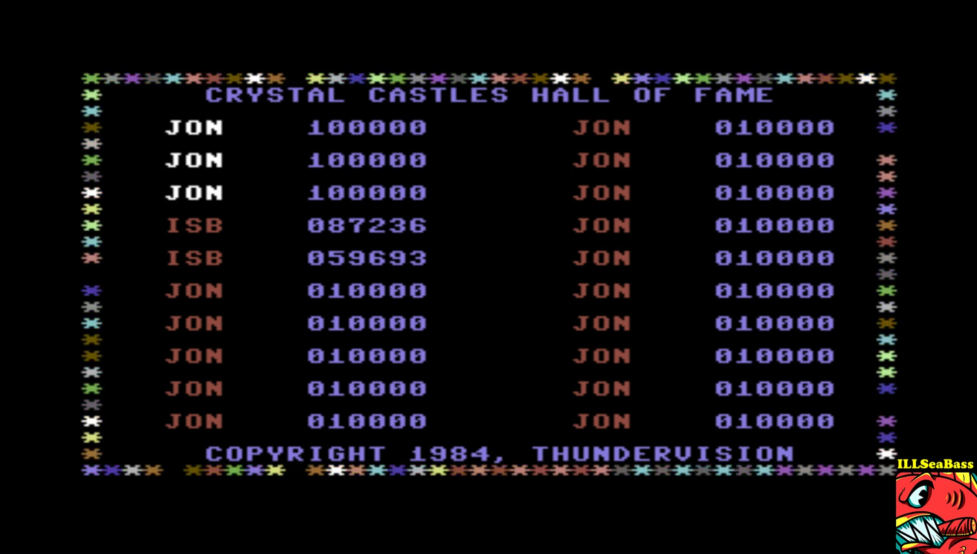 ILLSeaBass: Crystal Castles [Thundervision] (Commodore 64 Emulated) 87,236 points on 2017-03-18 16:12:16
