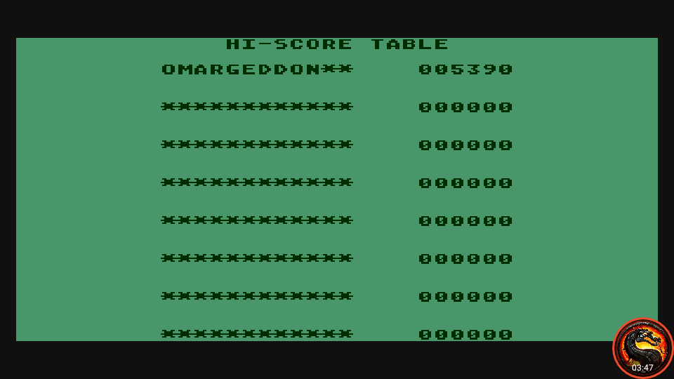 omargeddon: Cuthbert Goes Walkabout (Atari 400/800/XL/XE Emulated) 5,390 points on 2020-09-13 21:34:51