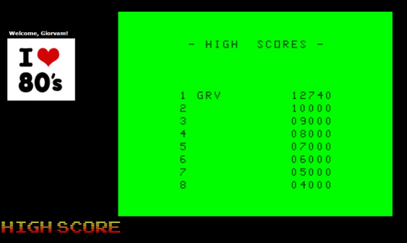 Giorvam: Cuthbert In The Mines (Dragon 32/64 Emulated) 12,740 points on 2017-01-04 13:40:38