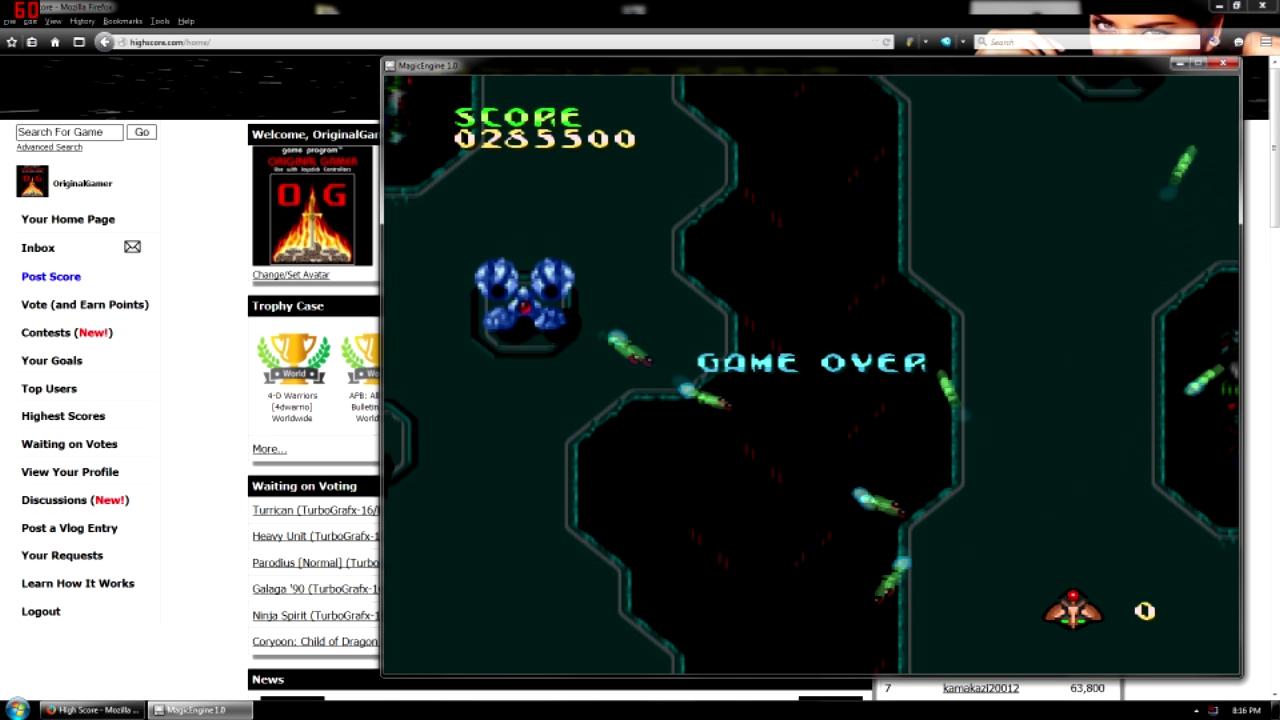 OriginalGamer: Cyber-Core (TurboGrafx-16/PC Engine Emulated) 285,500 points on 2015-08-17 00:54:29
