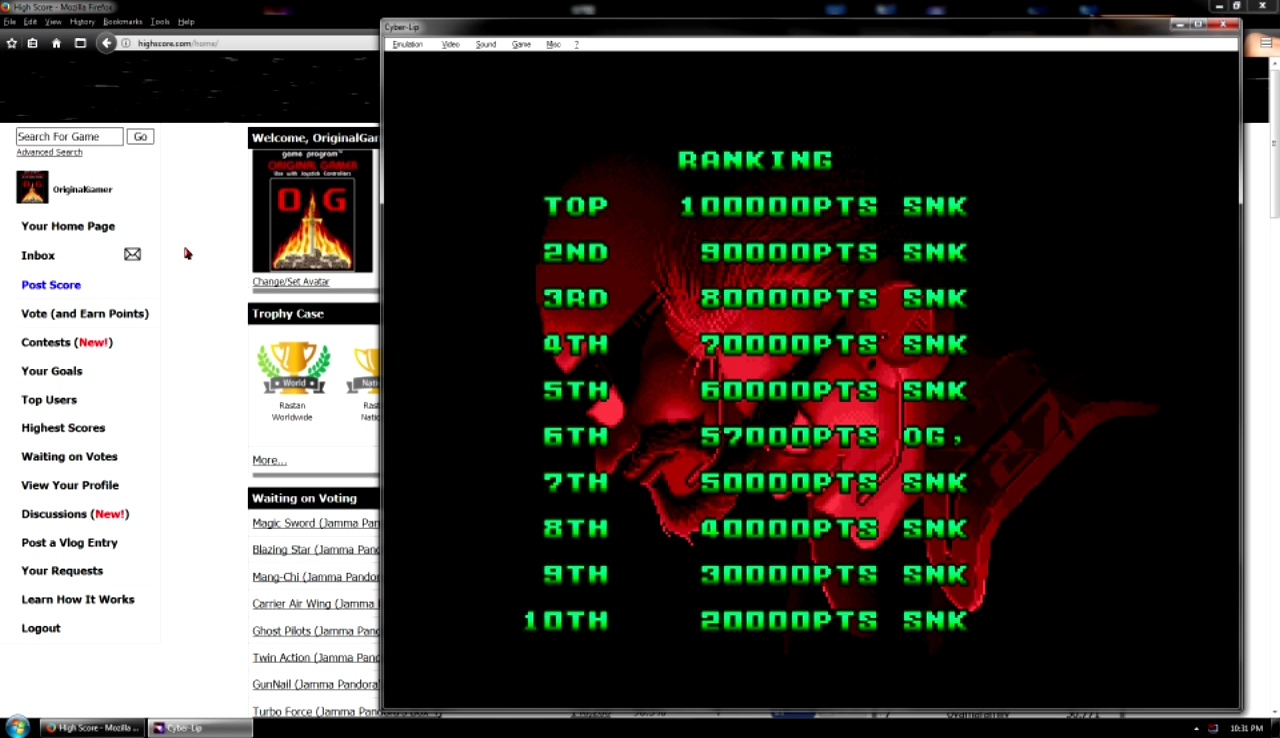 OriginalGamer: Cyber Lip (Neo Geo Emulated) 57,000 points on 2017-10-29 23:02:44