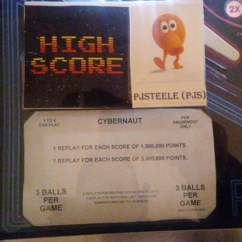 Pjsteele: Cybernaut (Pinball: 3 Balls) 209,760 points on 2017-12-31 17:44:50
