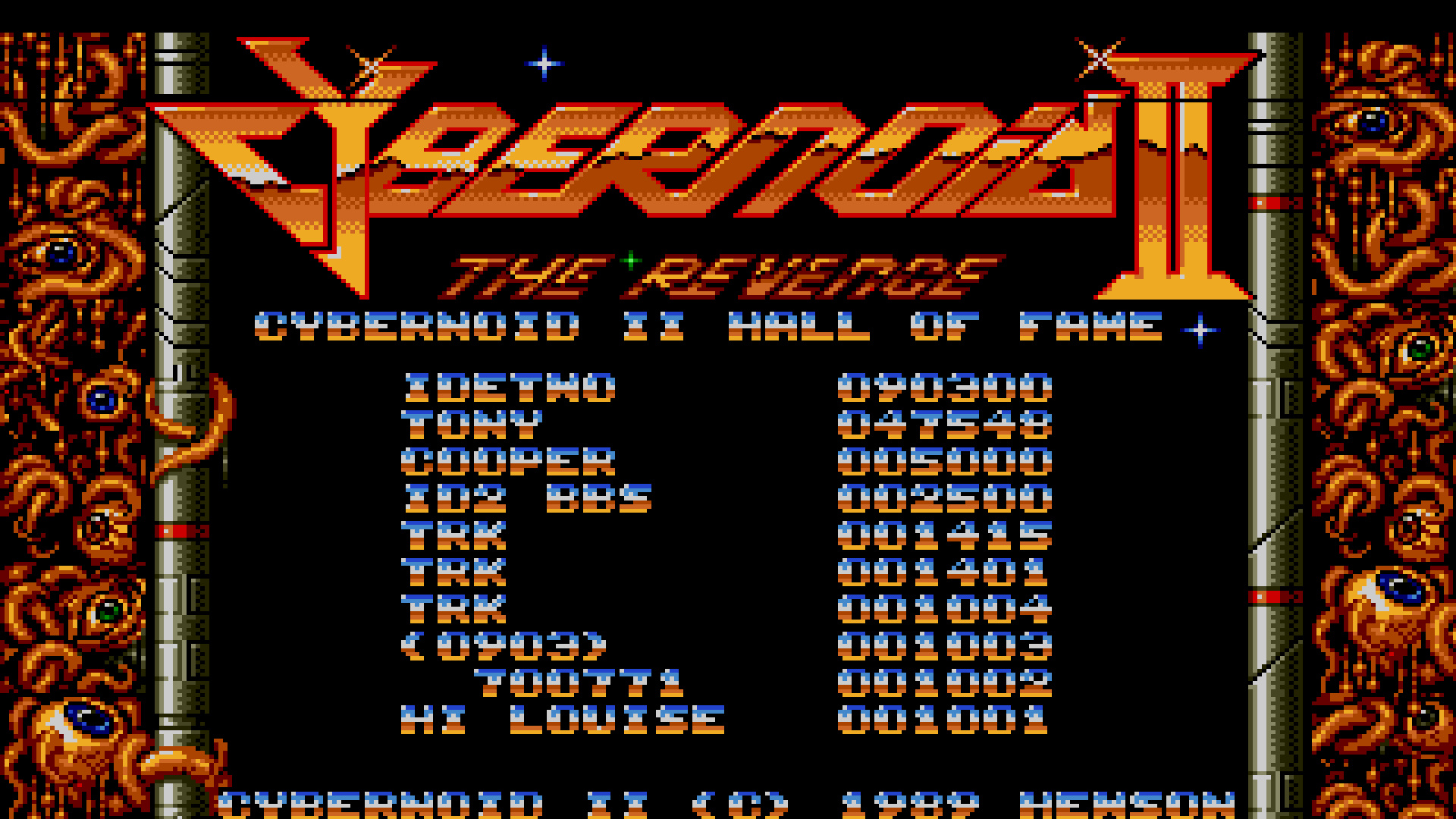 TheTrickster: Cybernoid 2 (Amiga Emulated) 1,415 points on 2015-07-25 00:04:16