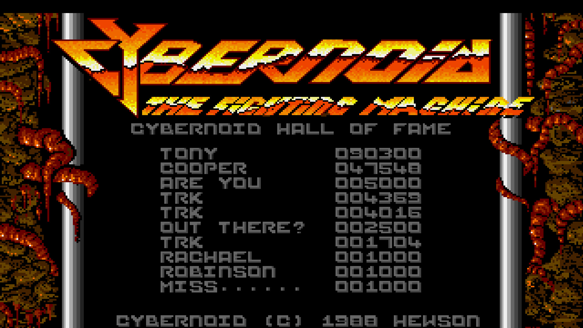 TheTrickster: Cybernoid (Amiga Emulated) 4,369 points on 2015-07-24 23:54:13