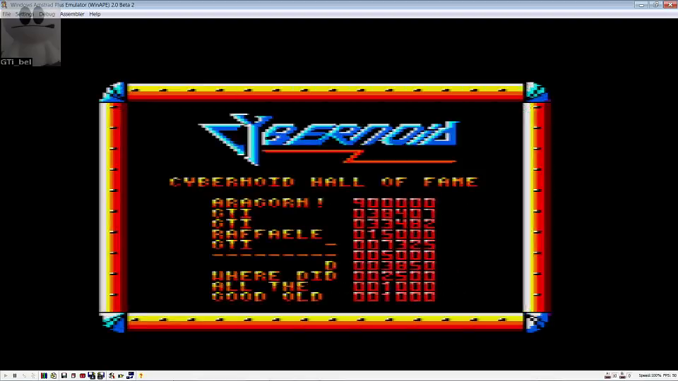 GTibel: Cybernoid (Amstrad CPC Emulated) 38,407 points on 2016-06-26 03:40:48