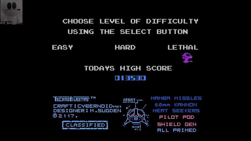 GTibel: Cybernoid [Lethal] (NES/Famicom Emulated) 13,530 points on 2016-06-26 06:59:19