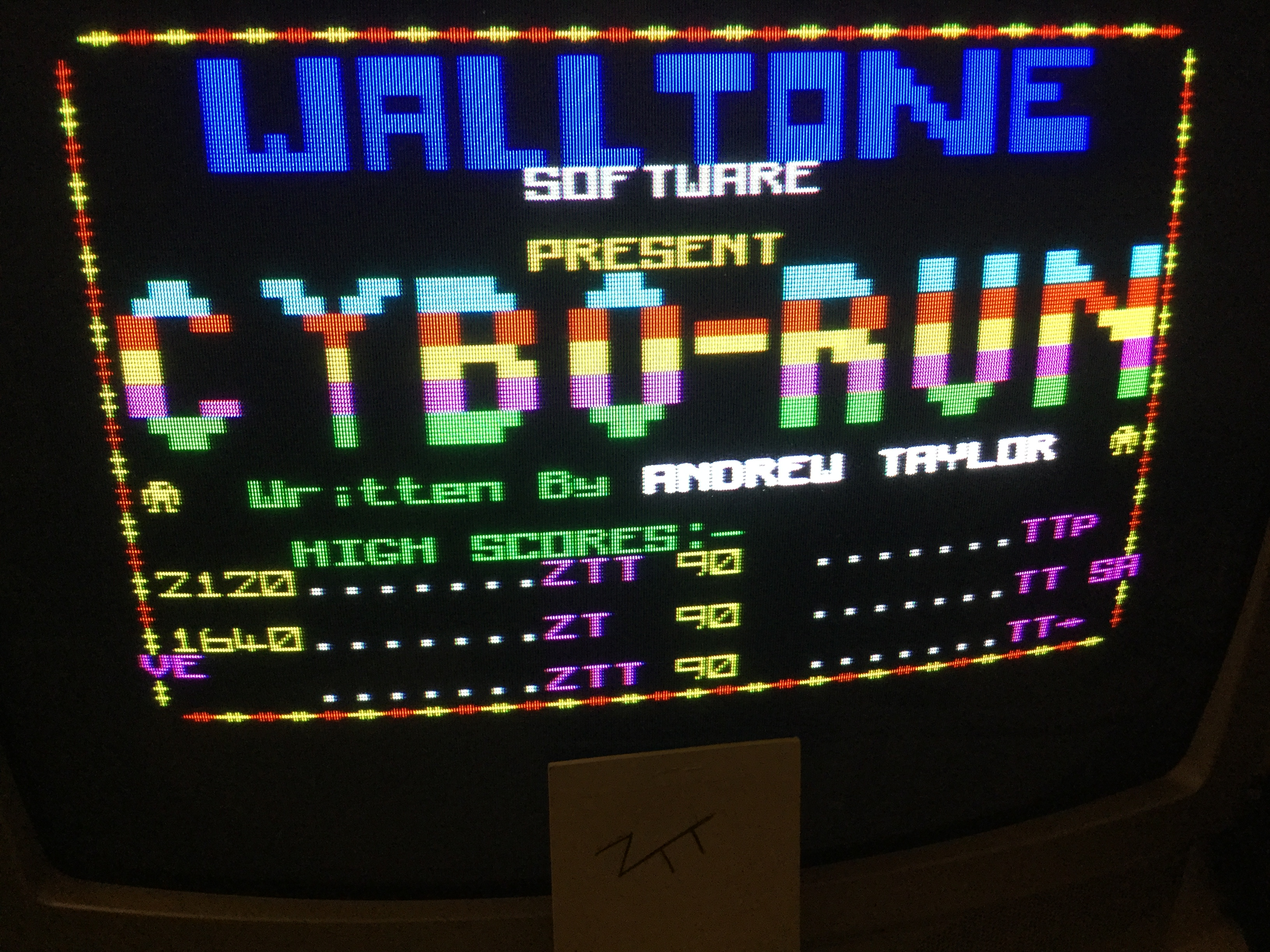 Frankie: Cybo Run (ZX Spectrum) 2,120 points on 2019-05-25 17:34:42