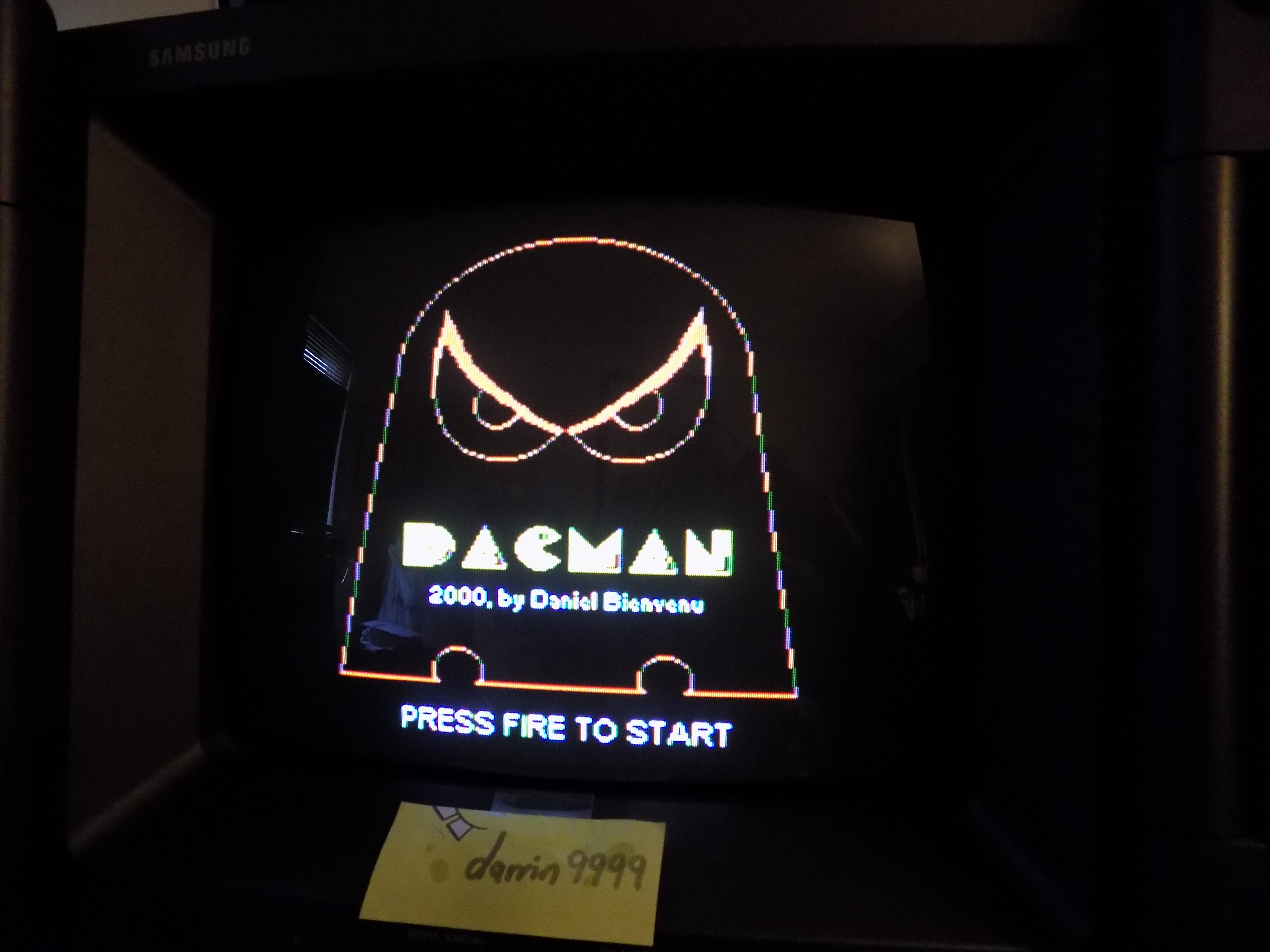 darrin9999: Dacman (Colecovision) 7,620 points on 2017-02-26 21:52:57