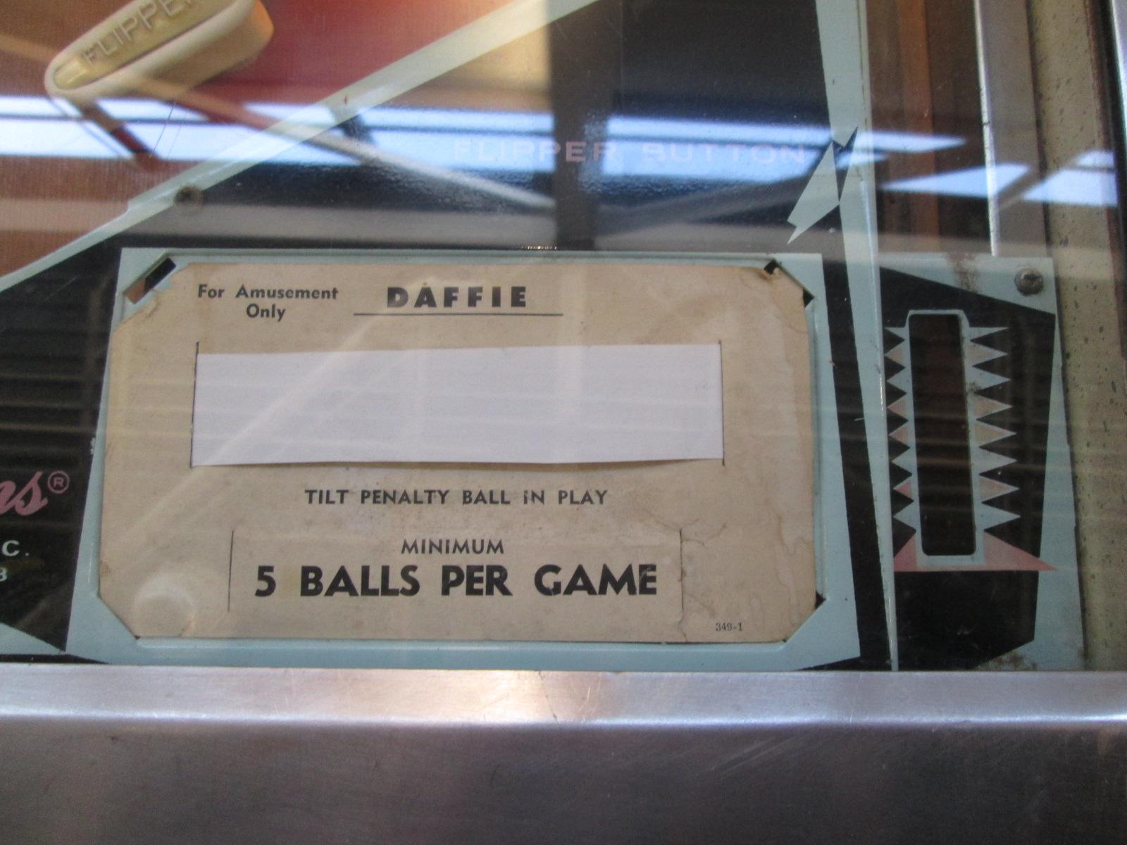 ed1475: Daffie (Pinball: 5 Balls) 19,840 points on 2017-05-19 16:33:48