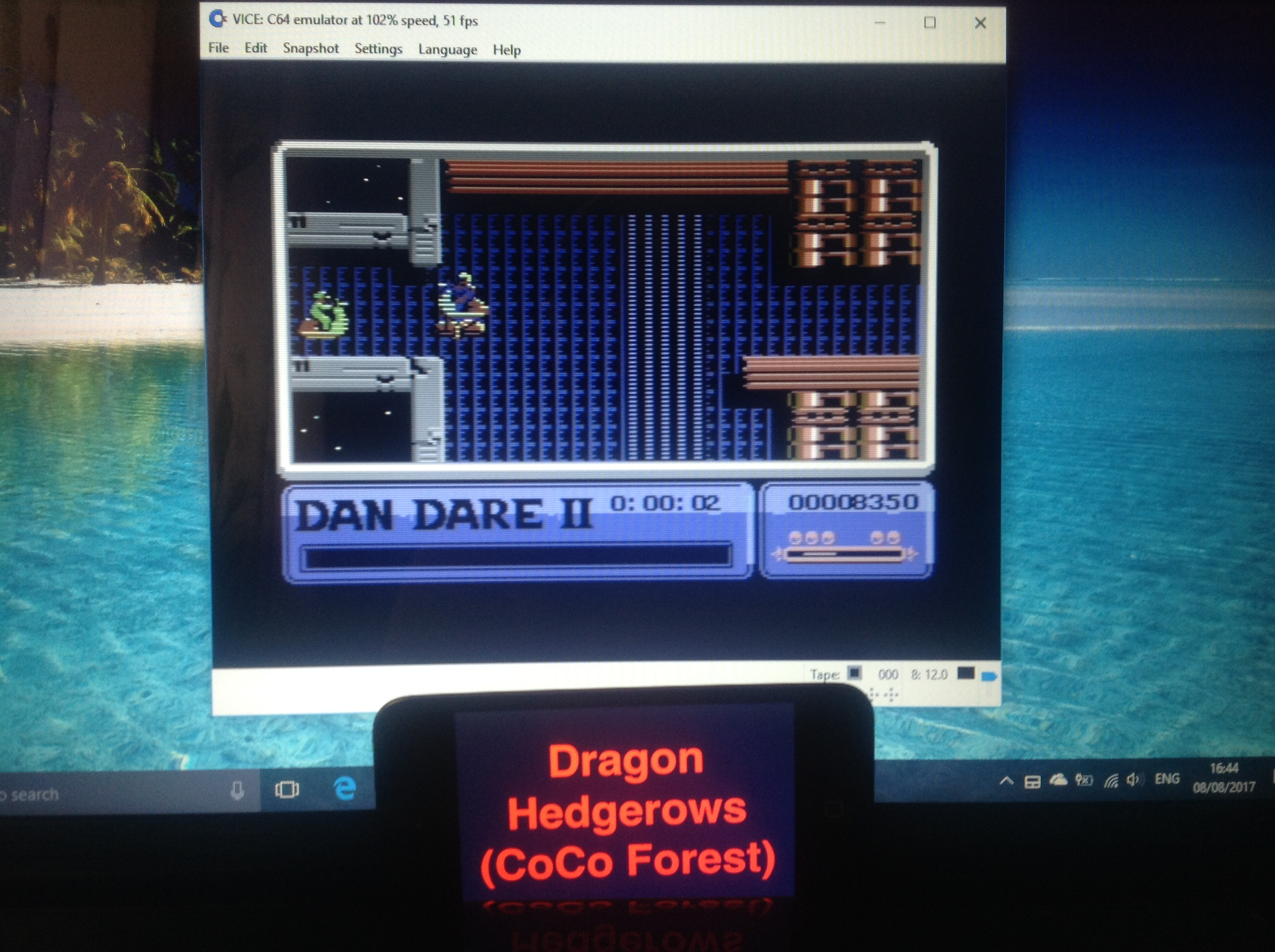 CoCoForest: Dan Dare II (Commodore 64 Emulated) 8,350 points on 2017-08-08 10:46:16