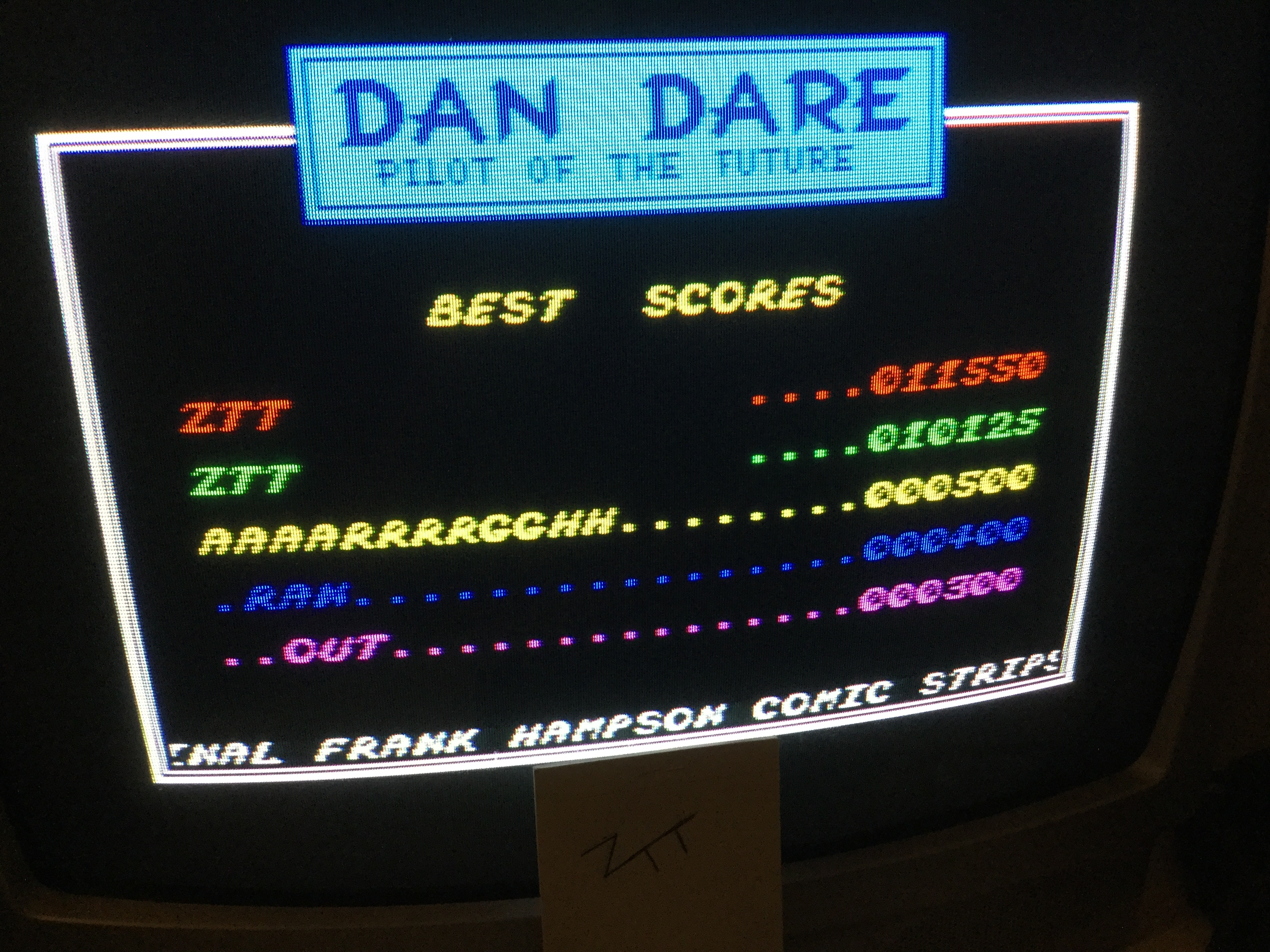 Frankie: Dan Dare (ZX Spectrum) 11,550 points on 2019-06-07 16:34:28