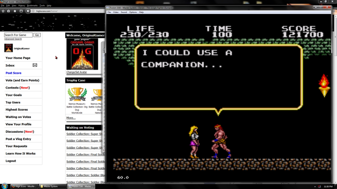 OriginalGamer: Danan: The Jungle Fighter (Sega Master System Emulated) 121,700 points on 2018-02-19 18:07:56