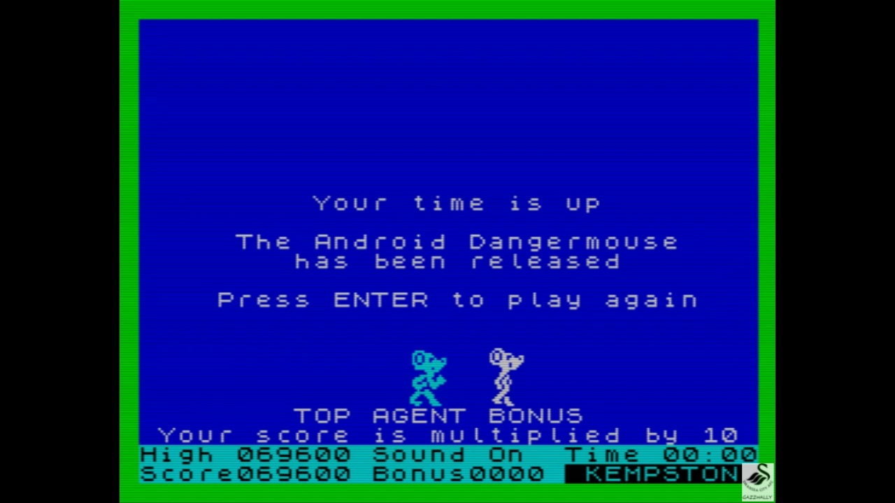 gazzhally: Danger Mouse In Double Trouble (ZX Spectrum Emulated) 69,600 points on 2019-05-29 15:55:46