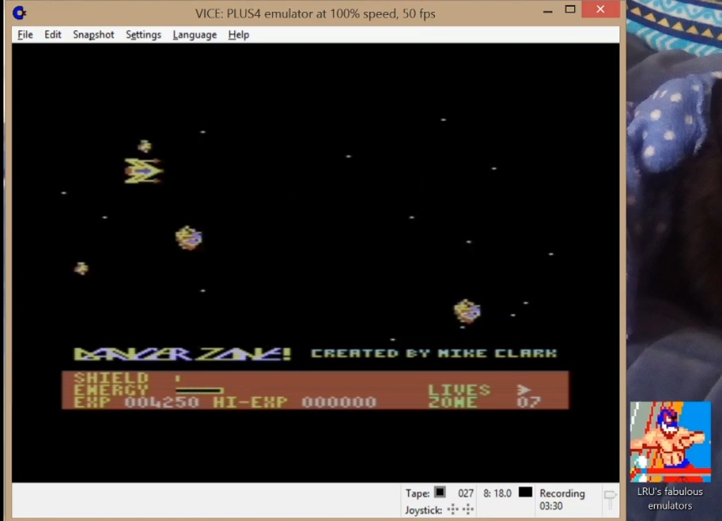 LuigiRuffolo: Danger Zone (Commodore 16/Plus4 Emulated) 4,250 points on 2020-06-30 16:58:45