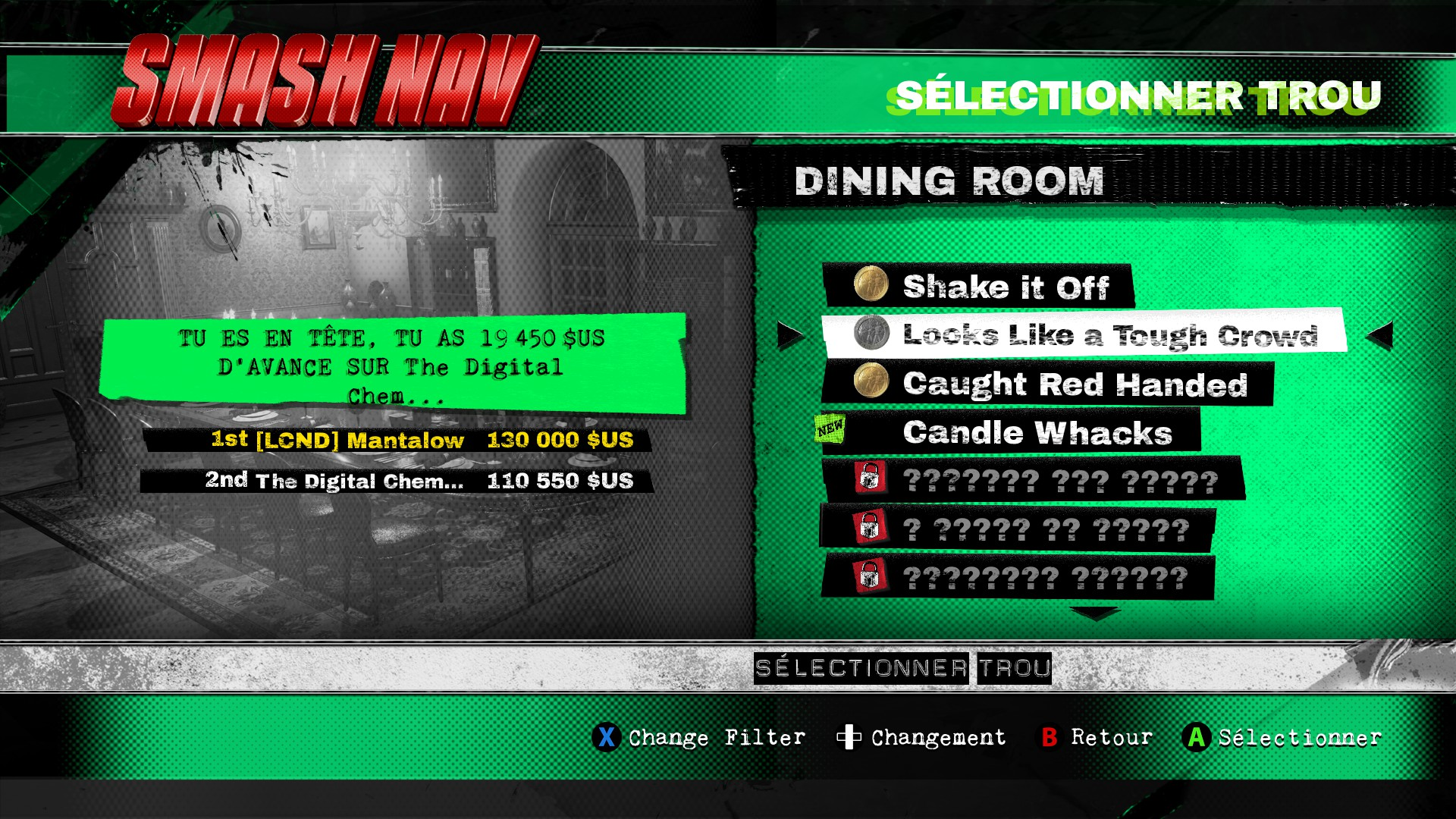 Mantalow: Dangerous Golf: France: Dining Room: Looks Like a Tough Crowd (PC) 130,000 points on 2016-06-05 03:38:53