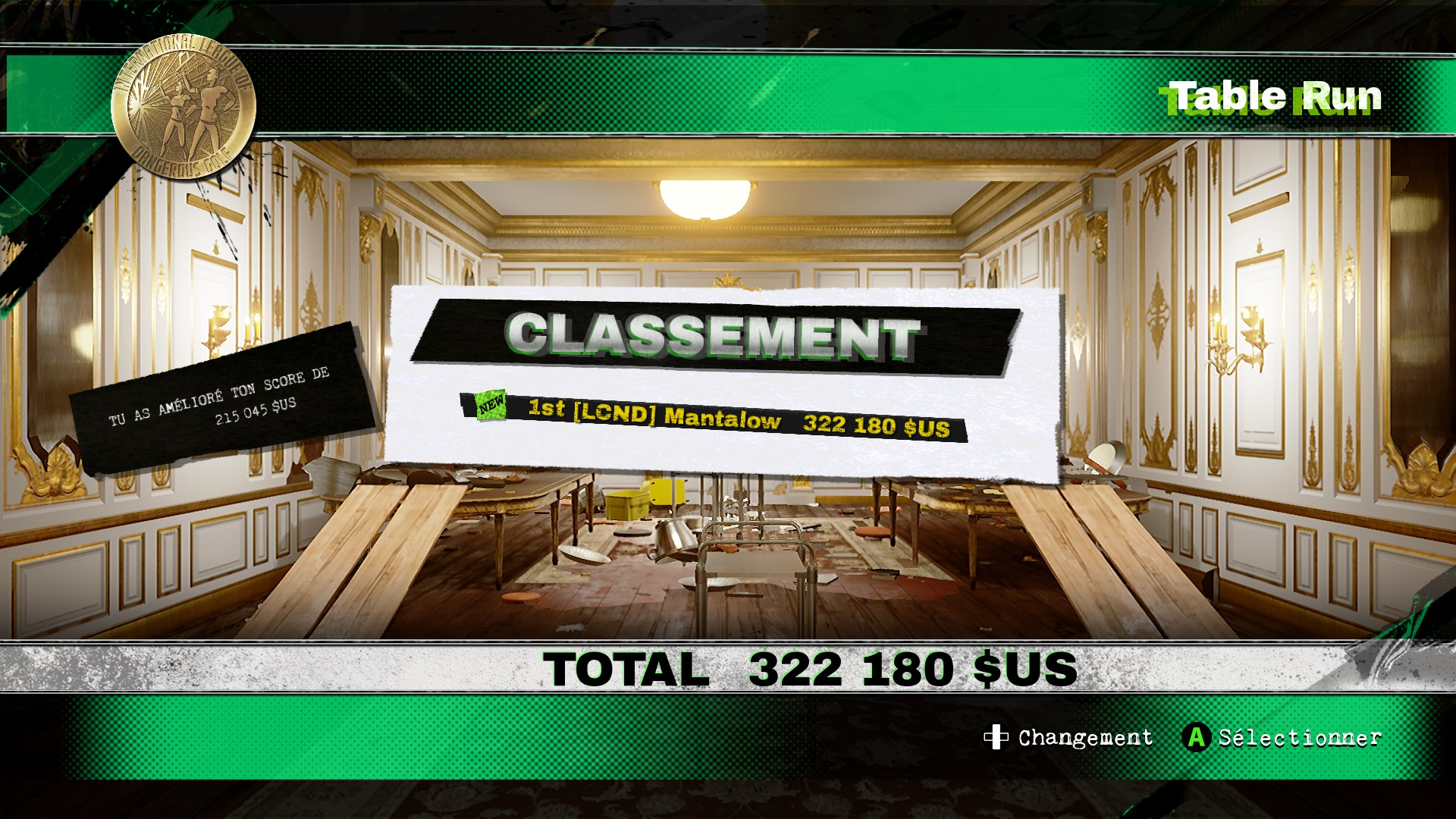 Mantalow: Dangerous Golf: France: Dining Room: Table Run (PC) 322,180 points on 2016-06-06 16:57:08