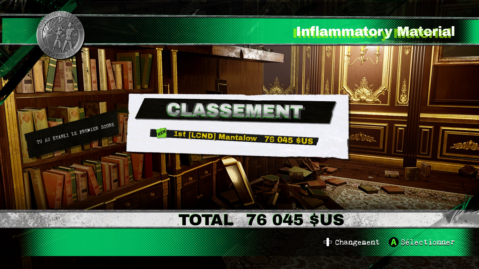 Mantalow: Dangerous Golf: France: Library: Inflammatory Material (PC) 76,045 points on 2016-06-05 11:32:55