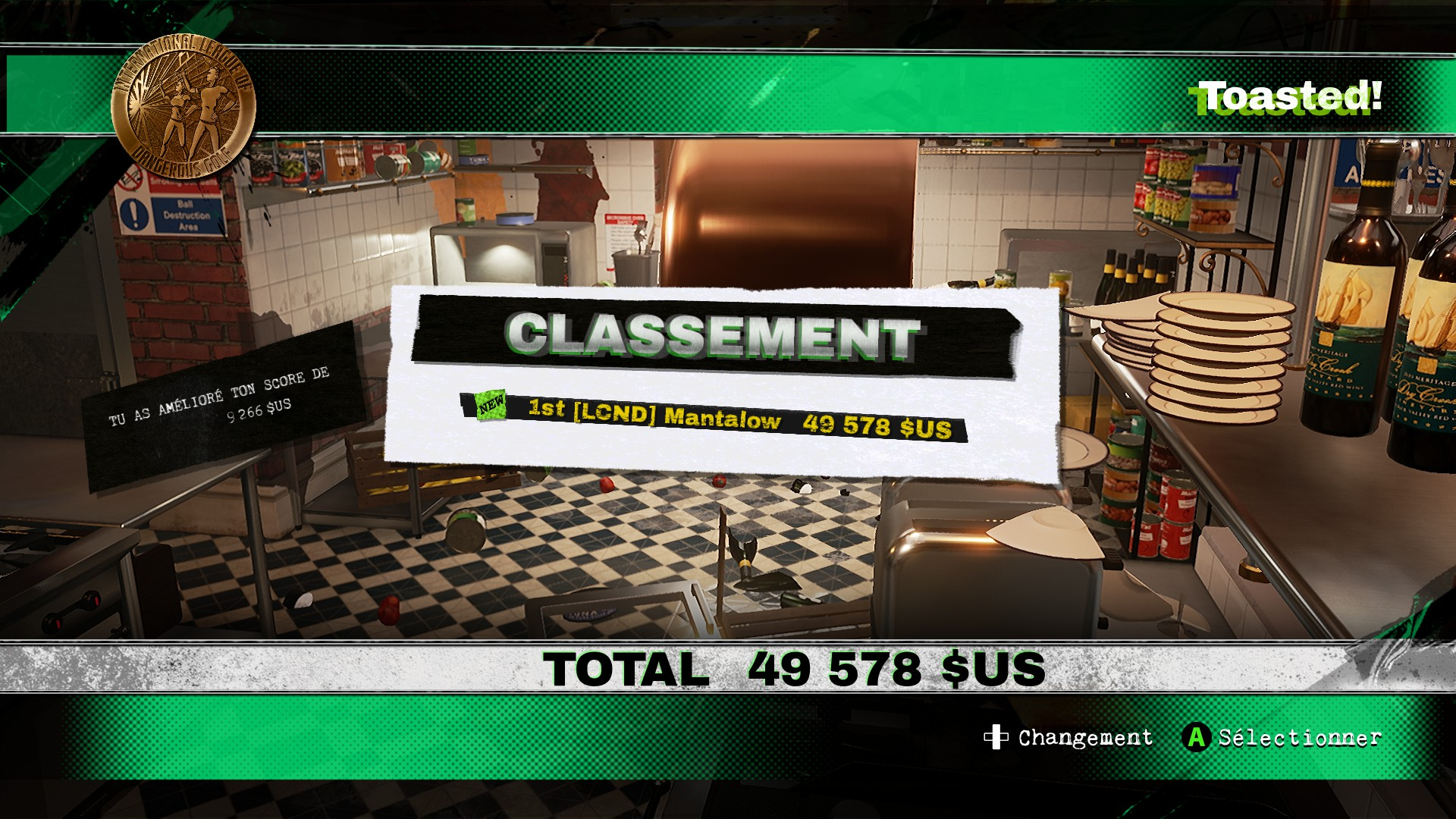 Dangerous Golf: United States: Kitchen: Toasted! 49,578 points
