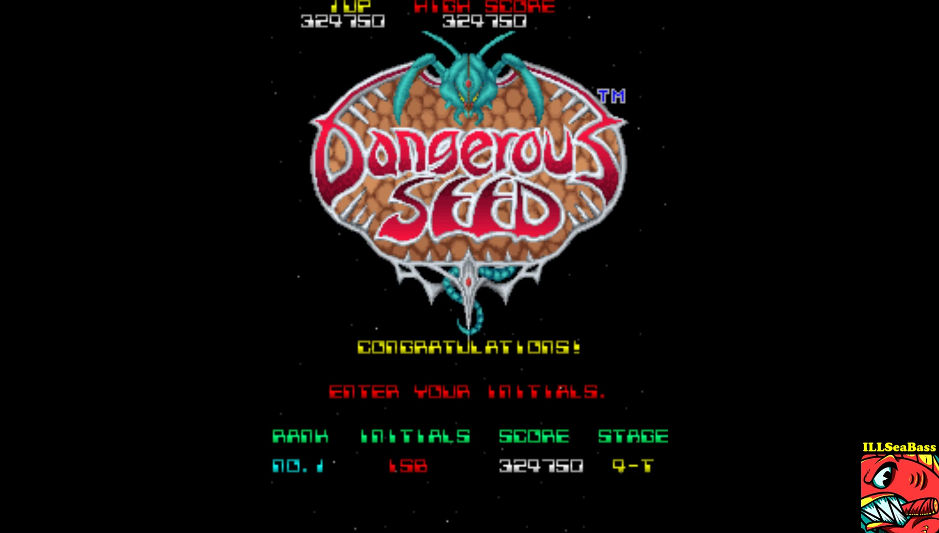 ILLSeaBass: Dangerous Seed [Japan] [dangseed] (Arcade Emulated / M.A.M.E.) 329,750 points on 2017-08-13 00:43:30