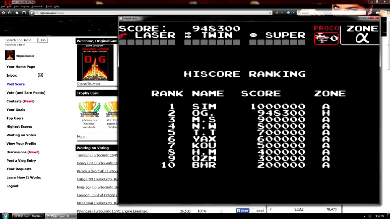 OriginalGamer: Darius Alpha (TurboGrafx-16/PC Engine Emulated) 948,300 points on 2015-08-21 16:50:01